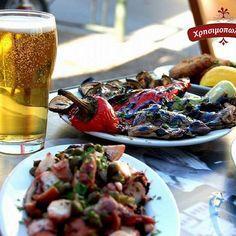 Λαχταριστά μεζεδάκια  για μεσημεριανό αλλά και  για οποιαδήποτε ώρα της ημέρας. Ελα στο Χρησιμοπωλειον και απόλαυσε μοναδικές γεύσεις μονο με 11€ Δες το μενου μας στο www.xrisimopolion.gr Pasta Salad, Beef, Ethnic Recipes, Food, Crab Pasta Salad, Meat, Essen, Meals, Yemek