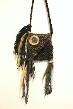 Hey, I found this really awesome Etsy listing at https://www.etsy.com/listing/219611530/knit-pouch-necklace-medicine-bag-mojo