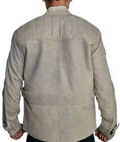 0393647ebed John Boyega Star Wars The Force Awaken Finn Poe Dameron Real Leather Jacket  at Amazon Men s Clothing store
