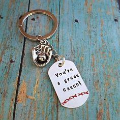 Check out this item in my Etsy shop https://www.etsy.com/listing/247931808/great-catch-baseball-lover-keychain-gift