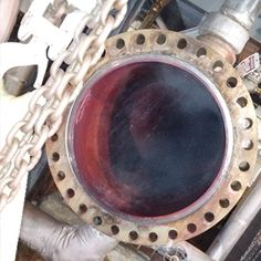 This is an open Flange at a Power Plant. We measured and provided new spiral wound gasket.Provided new Swagelok Valve.