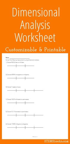Dimensional Analysis Worksheet - Customize and Print