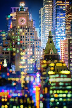 New York City Bokeh Double Exposure by Elle Bruce on 500px