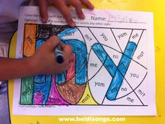 Free printable hidden sight word coloring worksheets. So creative!