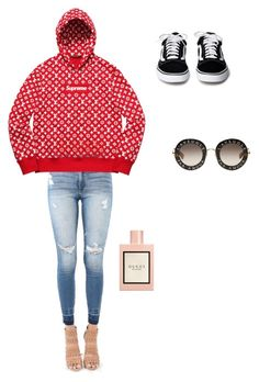 """""""Untitled #22"""" by karolinahaj on Polyvore featuring beauty, Louis Vuitton and Gucci"""