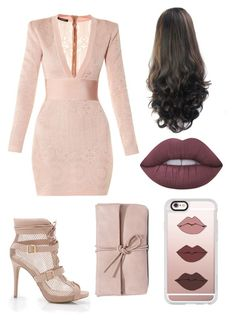 A fashion look from December 2016 featuring pink lace dresses, heeled ankle booties and pink handbags. Browse and shop related looks. Pink Handbags, Pink Lace, Lime Crime, Ankle Booties, Casetify, Balmain, Party Dress, Fashion Looks, Shoe Bag