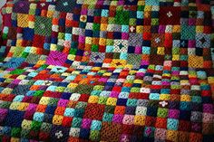 so colorful love the #crochetsquares