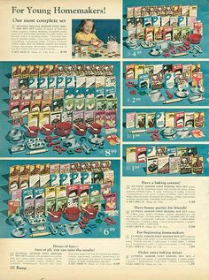 1967-xx-xx Penney's Christmas Catalog P262 by Wishbook, via Flickr ( I could play grocery store with this fake food for hours!)