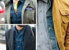 Layering Vintage Levis Denim Jacket Size Medium $44.99