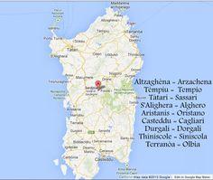 Map Sardinian to English by Jennifer Avventura My Sardinian Life 2013