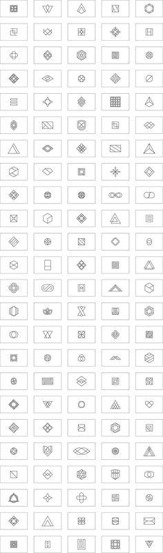 120 monoline logo marks.