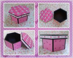 caixa em mdf 3mm, com aplicação de scrap em toda parte esterna, e pintura externa.