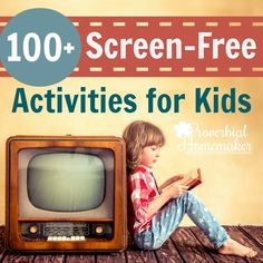 LOVE This list of screen-free activities. Has a handy FREE printable too! Great to keep on hand for those crazy days.