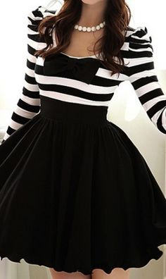 striped bow tie dress.