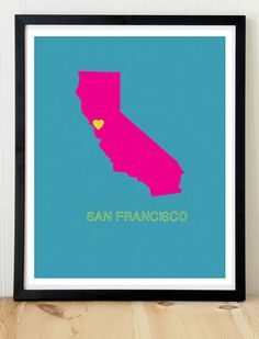 This needs to be my next tattoo. San Francisco print san francisco poster by KremerPrintandDesign