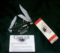 Camillus 884 Knife Black Stag Appearance Stockman Circa-1980 W/Packaging,Papers @ ditwtexas.webstoreplace.com