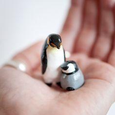 Cute little penguin figurines - mother's day idea!!  from le animalé