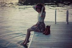 Flashes of Style: Outfit // Sunset at the dock