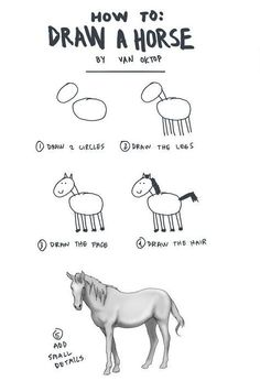 Every book about drawing horses I got as a child was exactly like this!