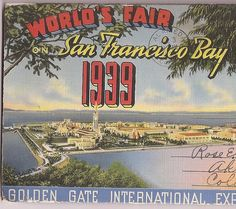 San Francisco Bay Souvenir Folder  World's Fair 1939