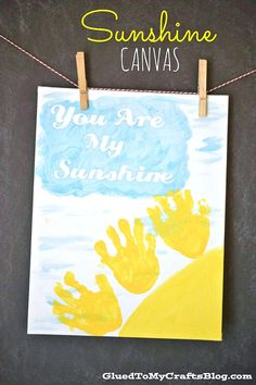 Handprint Sunshine Keepsake Canvas Idea - perfect for spring!