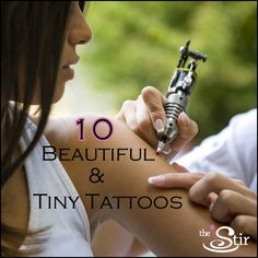 10 Perfectly Tiny Tattoos You Can Cover or Show at Will | Love these small tattoo ideas!