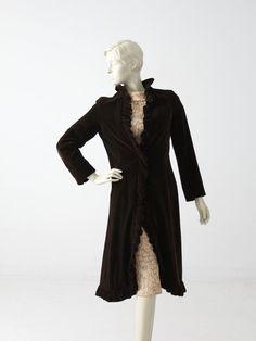 1950s velvet opera coat by Miss Bergdorf by 86Vintage86 on Etsy