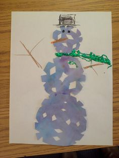 ARTASTIC! Miss Oetken's Artists: Cool and Warm color family Snowflake Watercolor Snowmen!
