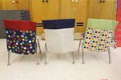 Child at Heart: Homemade Classroom Chair Pockets, good photo tutorial