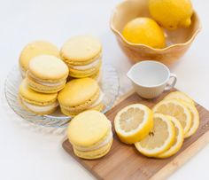 lemon macarons - I was talking with a friend of mine, and she was saying how hard it is to make Macarons.  Of course, I took that as a challenge, so pinning recipes now....