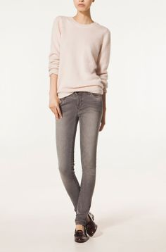 ROUNDED COLLAR MOHAIR SWEATER Massimo Dutti