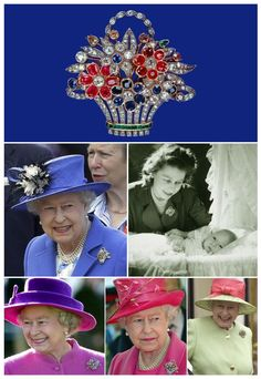 Queen Elizabeth's Flower Basket Brooch. Hey we all got fav pieces of jewelry don't we.guess this is one of hers