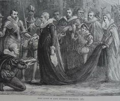 "29-Jul	1565 Mary, Queen of Scots, married Darnle... Both Mary and Darnley were grandchildren of Margaret Tudor, sister of Henry VIII of England, and patrilineal descendants of the High Stewards of Scotland. Mary fell in love with the ""long lad"" They married at Holyrood Palace on 29 July 1565, even though both were Catholic and a dispensation for the marriage of first cousins had not been obtained However, Mary's insistence on the marriage seems to have been passion rather than calculation.& love"