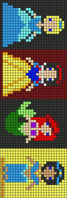 Cinderella, Snow White, Ariel and Jasmine Alpha perler hama Pattern Perler Beads, Fuse Beads, Seed Beads, Melty Bead Patterns, Hama Beads Patterns, Beading Patterns, Disney Hama Beads Pattern, Hama Beads Disney, Cross Stitch Embroidery