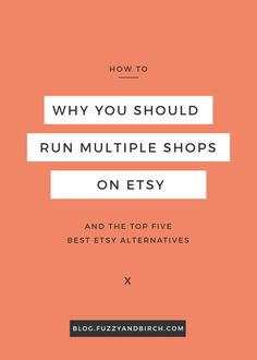 Why would you want to run more than one shop on Etsy? What will it do for your business? See why most successful sellers run multiple shops. Get the top 5 best Etsy alternatives and start expanding today. Click to read more. Check out all the best tips and tricks for eBay sellers on ResellingRevealed.com  The best eBay blog on the net for BOLO lists, eBay How-To Guides, and more!