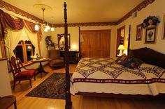 Combine the Best View Of Any B&B in Lancaster County PA with a Victorian style mansion - then you must be at the Hurst House Bed and Breakfast Lancaster PA! Mansions, Furniture, Ephrata, House, Bed And Breakfast, Home Decor, House Beds, Bed