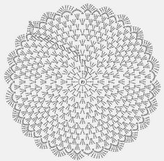 "doily pattern ""Needles and Brushes: Sousplat crochet"", ""Crochet diagram only"", ""Captured with Lightshot"" Crochet Circles, Crochet Doily Patterns, Crochet Diagram, Crochet Round, Crochet Chart, Crochet Squares, Crochet Home, Thread Crochet, Crochet Granny"