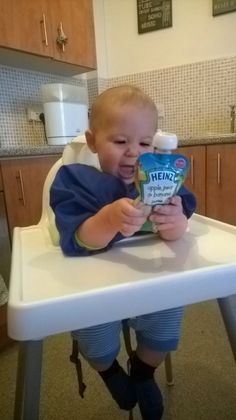'Teddy was intrigued straight away, as soon as he saw the pouch he grabbed it straight off me and tried to eat it! He ate the whole pouch very quickly with minimal mess and effort. He clearly loved the taste and texture'. Pouches, Effort, Minimal, Texture, Eat, Surface Finish, Pattern