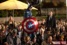 Behind the scenes of Avengers.  This scene looks cool even outside of the movie XD