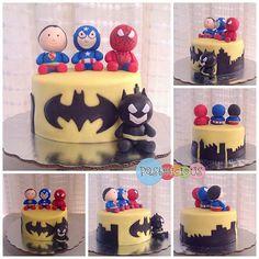 #pastelicious #fondantcake #gumpastefigure #birthdaycake #superheroes