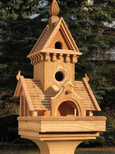 This is a very beautiful Victorian bird house. I am thinking about getting one for my backyard. They just make the backyard look so great! http://www.flairmerc.com/product.asp?dept_id=30060&pfid=32347 #woodenbirdhouses