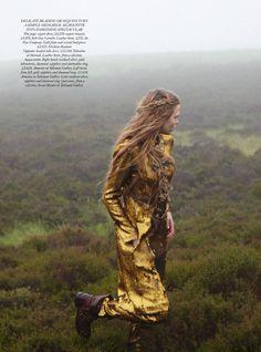 'Some Enchanted Evening.' Josephine Skriver in Guy Laroche photographed by Yelena Yemchuk for Harper's Bazaar UK, December 2012.