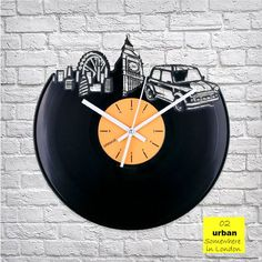 Urban London Vinyl Clock by ArtZavold