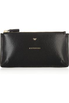 Anya Hindmarch Expenses textured-leather pouch