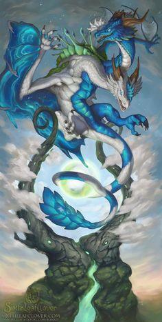 2016 Zodiac Dragons Gemini by The-SixthLeafClover on DeviantArt*Dragon Fantasy Myth Mythical Mystical Legend Dragons Wings Sword Sorcery Art Magic Drache dragon drago dragon Дракон drak dragão * Zodiac As Magical Creatures, Fantasy Creatures, Fantasy Dragon, Fantasy Art, Dragon Zodiac, Cool Dragons, Dragon's Lair, Zodiac Art, 2017 Zodiac
