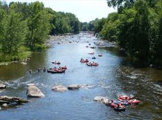 there are many rivers in Wisconsin to tube, kayak, and canoe on...'Tubing on the Little Wolf River'