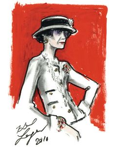 COCO CHANEL - By Karl Lagerfeld: Illustrations of the iconic designer