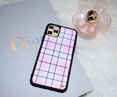 Lilac Reign Pink Plaid Case for iPhone 11 Pro Max Custom Iphone Cases, Pretty Iphone Cases, Cute Phone Cases, Iphone Phone Cases, Iphone Case Covers, Iphone 11, Aesthetic Phone Case, Coque Iphone, Phone Accessories