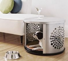 Creative Way To Recycle A Wasing Machine Drum Turn It Into A Dog Den.......