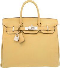 Hermes 32cm Cardamome Chevre Mysore Leather HAC Birkin Bag with Palladium Hardware L Square, 2008 Very Good to Excel